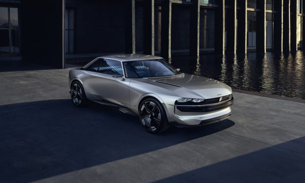 e-Legend concept car: Peugeot 504 coupe reinventat